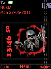 Angry Skeleton By ROMB39 Theme-Screenshot
