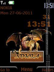 Dragon With Nokia By ROMB39 es el tema de pantalla