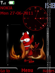 The devil in Hell By ROMB39 es el tema de pantalla