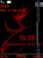 Red Vortex By ROMB39 theme screenshot