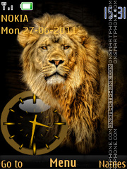 Lion clock theme screenshot