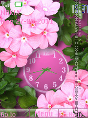 Pink Flowers theme screenshot