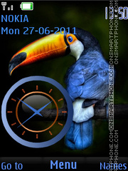 Скриншот темы Bird Toucan