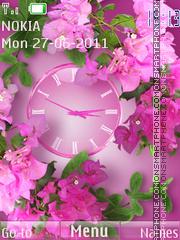 Flowers Clock theme screenshot