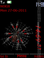 Spider on the Web By ROMB39 es el tema de pantalla