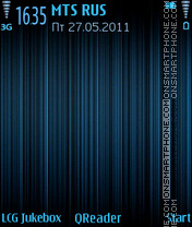 Lines-blue theme screenshot