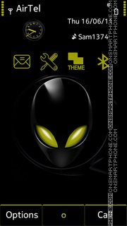 Black Alien tema screenshot