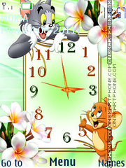 Tom and Jerry Clock es el tema de pantalla
