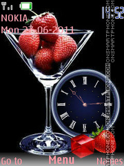 Strawberry In Glass theme screenshot