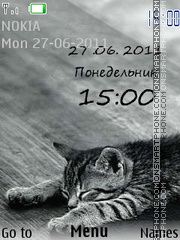 Sleeping Cat tema screenshot