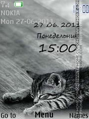 Sleeping Cat theme screenshot