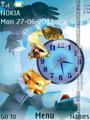 Ice Age Clock theme screenshot
