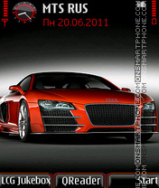 AudiR8-red theme screenshot