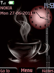 Coffee Clock theme screenshot