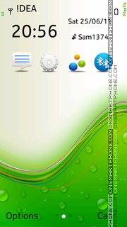 Green Vector tema screenshot