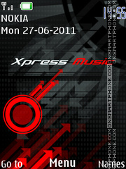 Xpress music theme screenshot