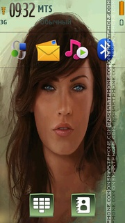Megan fox 32 Theme-Screenshot