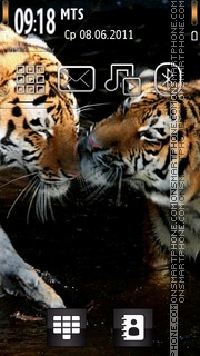 Golden Tigers theme screenshot