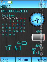 Calendar Battery theme screenshot