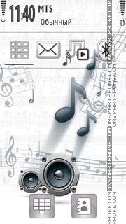 Omnia Music tema screenshot
