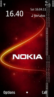 Nokia Red 05 theme screenshot