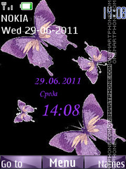 Butterflies tema screenshot