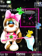Cheerful clock theme screenshot