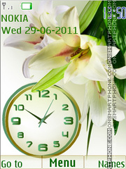 Скриншот темы Flower clock