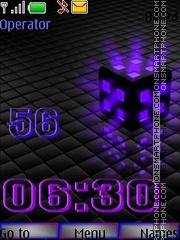 Cube clok theme screenshot