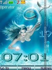 Mermaids swf theme screenshot