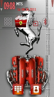 Ferrari 604 theme screenshot