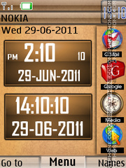 New Style Clock 03 theme screenshot