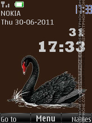 Black swan By ROMB39 tema screenshot