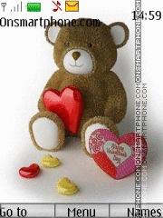 Teddy Bear Love 01 theme screenshot
