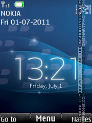 Real Blackberry Clock es el tema de pantalla