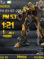 Transformers Clock theme screenshot