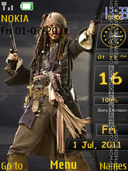 Pirates jack Sparrow theme screenshot