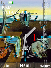Salvador Dali Clock theme screenshot