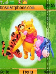 Скриншот темы Pooh with Friends