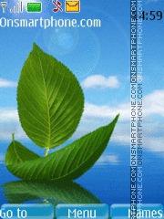 Скриншот темы Leaf Water