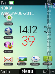 Android Touch Clock theme screenshot