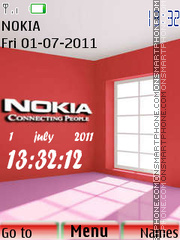 Nokia Clock 07 theme screenshot