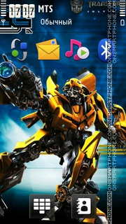 Transformers Bumblebee 01 theme screenshot