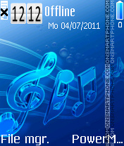 Blue notes es el tema de pantalla