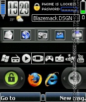 Mobile desktop theme screenshot