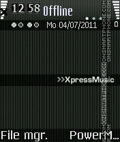Xpress music tema screenshot