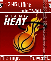 Miami heat tema screenshot