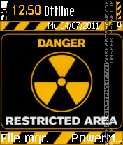 Radioactive tema screenshot