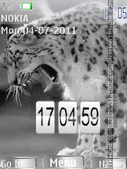 Snow leopard Clock es el tema de pantalla
