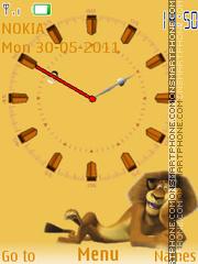 Lion Clock 02 es el tema de pantalla